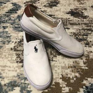 White polo Vaughn Slip Ons. Size 9.5.
